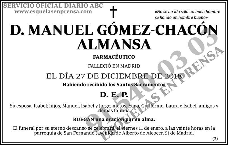 Manuel Gómez-Chacón Almansa